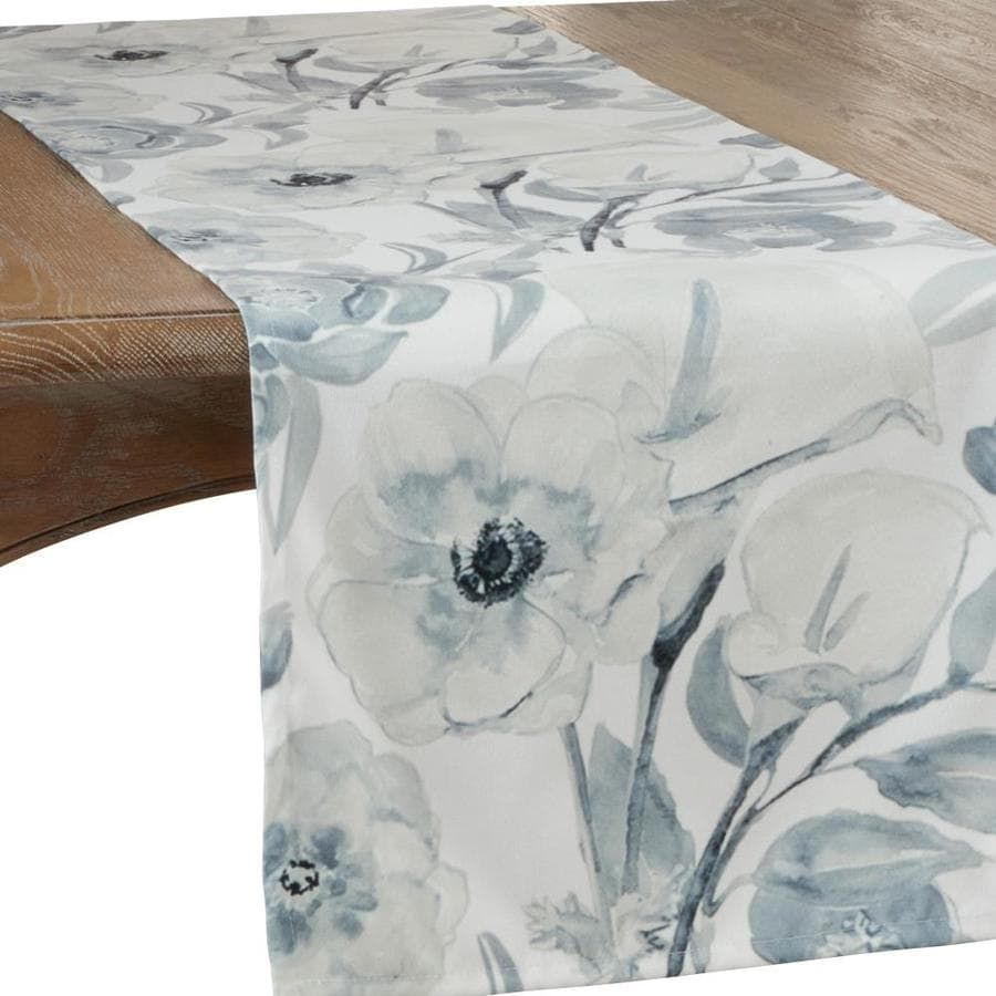Saro Lifestyle Saro Lifestyle 4668 Bg1672b 16 X 72 In Oblong Watercolor Floral Design Large Table Runner In The Endless Aisle Department At Lowes Com