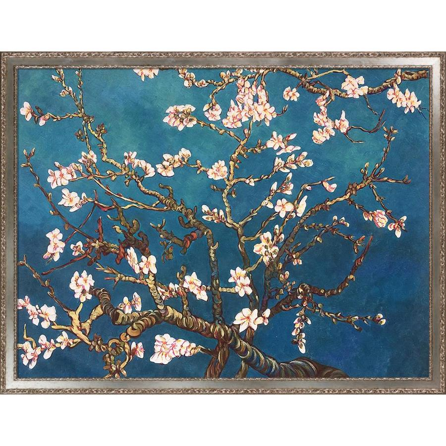 La Pastiche La Pastiche By Overstockart Branches Of An Almond Tree In Blossom By Vincent Van Gogh With Silver Versailles Salon Frame Oil Painting Wall Art 52 In X 40 In In The Wall