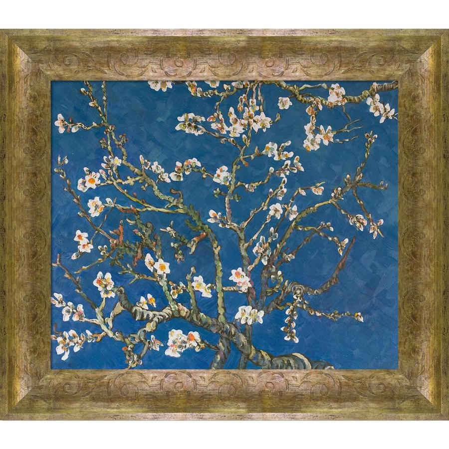 La Pastiche La Pastiche By Overstockart Branches Of An Almond Tree In Blossom By Vincent Van Gogh With Sirocco Frame Oil Painting Wall Art 31 In X 27 In In The Wall Art Department
