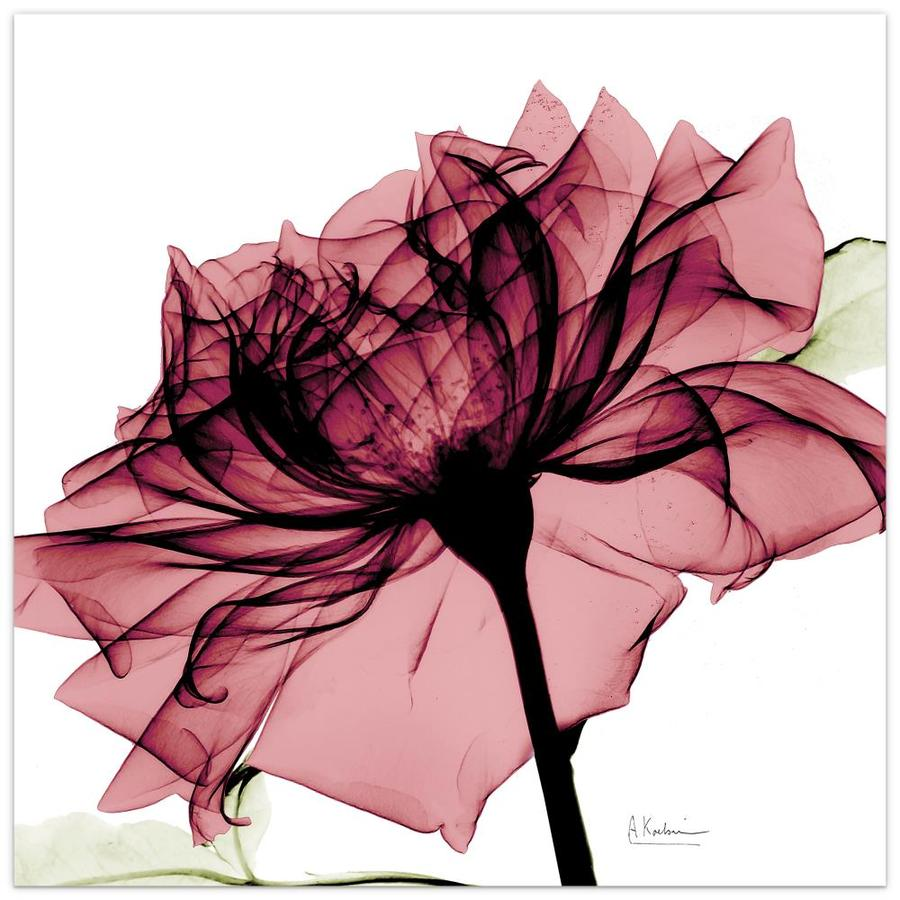 Empire Art Direct Wall Art 24 X 24 Chianti Rose I Flowers Frameless Free Floating Tempered Glass Panel Graphic Wall Art In The Wall Art Department At Lowes Com