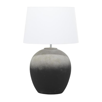 Grayson Lane 22 9 In Black Table Lamp With Linen Shade In The Table Lamps Department At Lowes Com