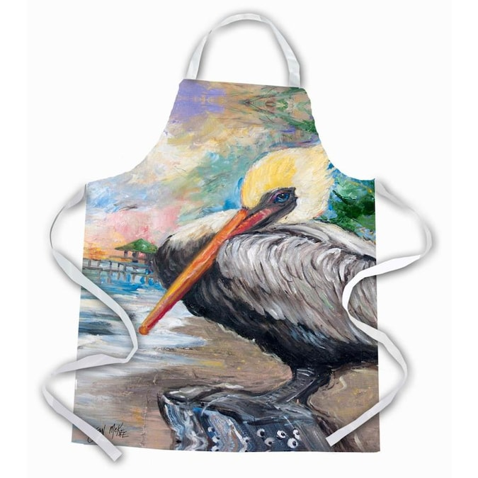 Caroline S Treasures Bay View Pelican Apron In The Cooking Apparel Department At Lowes Com