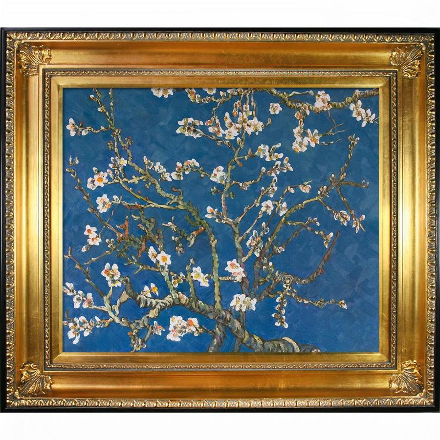 La Pastiche La Pastiche By Overstockart Branches Of An Almond Tree In Blossom By Vincent Van Gogh With Gold And Black Regency Frame Oil Painting Wall Art 32 5 In X 28 5 In In The