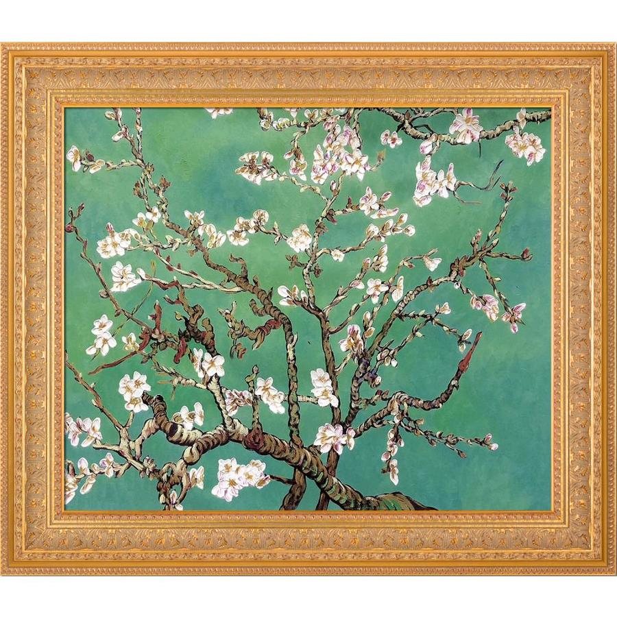 La Pastiche La Pastiche By Overstockart Branches Of An Almond Tree In Blossom Jade By La Pastiche Originals With Gold Sovereign Frame Oil Painting Wall Art 30 5 In X 26 5 In In The Wall