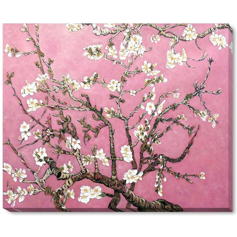 La Pastiche La Pastiche By Overstockart Branches Of An Almond Tree In Blossom Pearl Pink By La Pastiche Originals Gallery Wrapped Canvas Oil Painting Reproduction Wall Art 22 In X 18 In In The