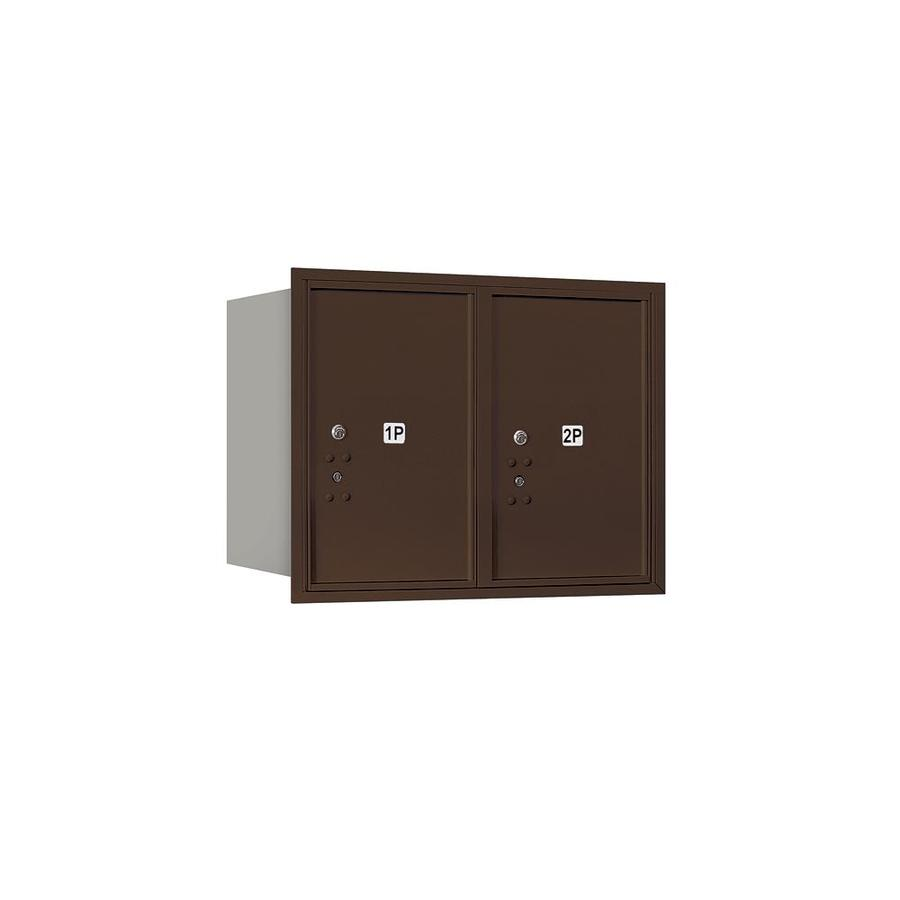 Salsbury Industries Recessed Mounted 4c Horizontal Mailbox Includes Master Commercial Locks 6 Door High Unit 23 1 2 In Double Column Stand Alone Parcel Locker 2 Pl6 Bronze Rear Loading Private Access In The Mailboxes