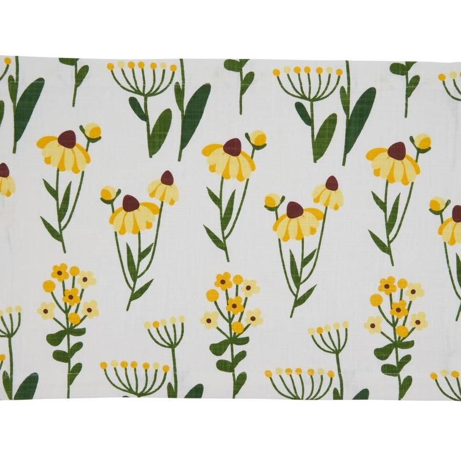 Saro Lifestyle Saro Lifestyle 758 Y1420b 14 X 20 In Oblong Cotton Placemats With Yellow Daisy Floral Design Set Of 4 In The Endless Aisle Department At Lowes Com