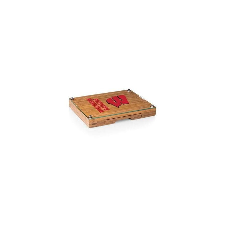 Picnic Time Picnic Time 919 00 505 644 0 Wisconsin Badgers Concerto Bamboo Cutting Board Tray And Cheese Tools Set In The Endless Aisle Department At Lowes Com