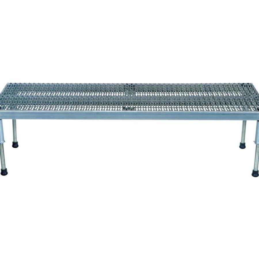Vestil Vestil Manufacturing Ahw H 2496 A 24 X 96 In Adjustable Aluminum Work Mate Stand With Serrated Deck 9 5 15 5 In In The Shop Equipment Department At Lowes Com