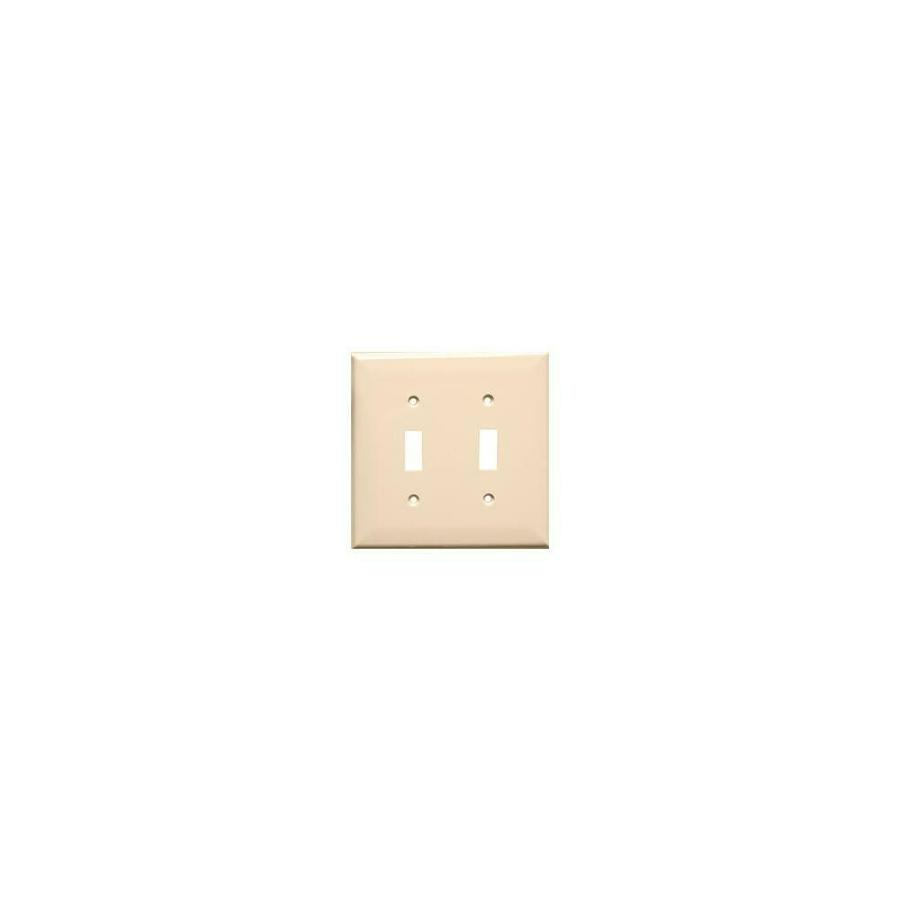 Lexan Wall Plates 2 Gang Midsize Toggle Switch Almond In The Endless Aisle Department At Lowes Com