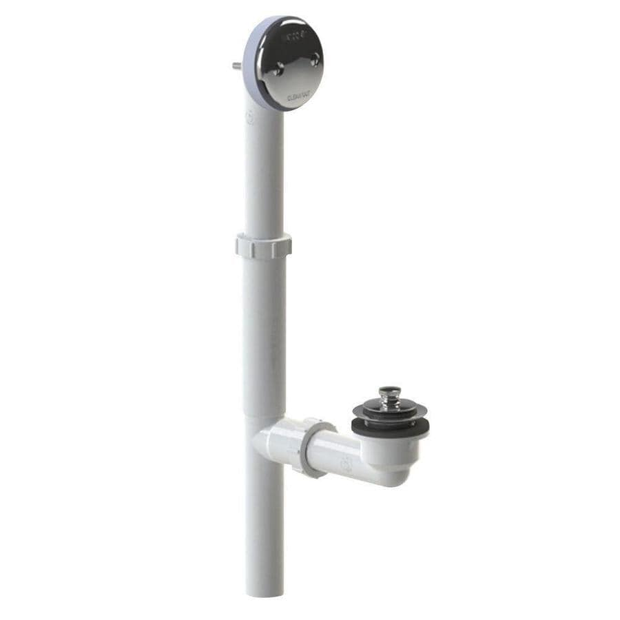 1.5-Inch PVC Piping Lift and Turn Tubular Plastic Drain Waste and Overflow Kit