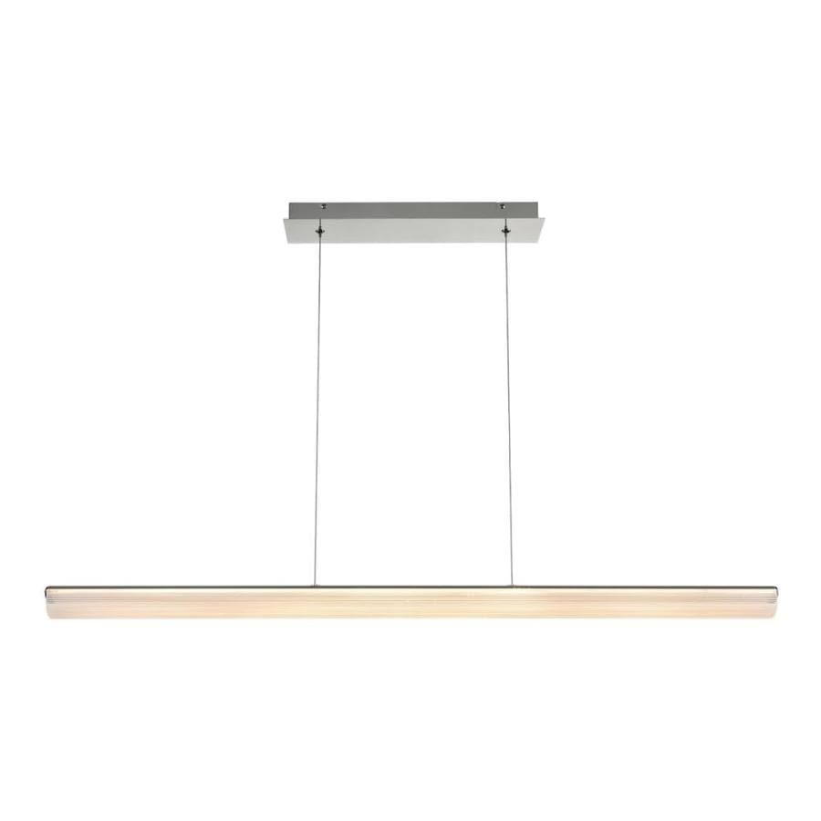 Eurofase Landor Chrome Transitional Linear Led Kitchen Island Light In The Pendant Lighting Department At Lowes Com