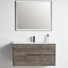 Wellfor 3 Piece Bathroom Vanity Set With Mirror Bathroom Vanity Set Giro Rock In The Bathroom Vanity Tops Department At Lowes Com