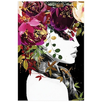 Empire Art Direct Wall Art 48 X 32 Purple Rain Beatiful Woman Frameless Free Floating Tempered Glass Panel Graphic Wall Art In The Wall Art Department At Lowes Com