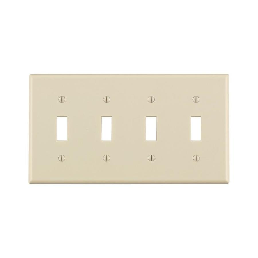Light Almond 4 Gang Toggle Switch Wall Plate In The Endless Aisle Department At Lowes Com