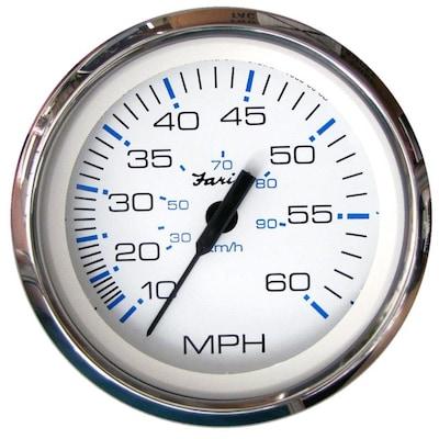 Faria Euro Black 4 Speedometer 60mph gps for sale online