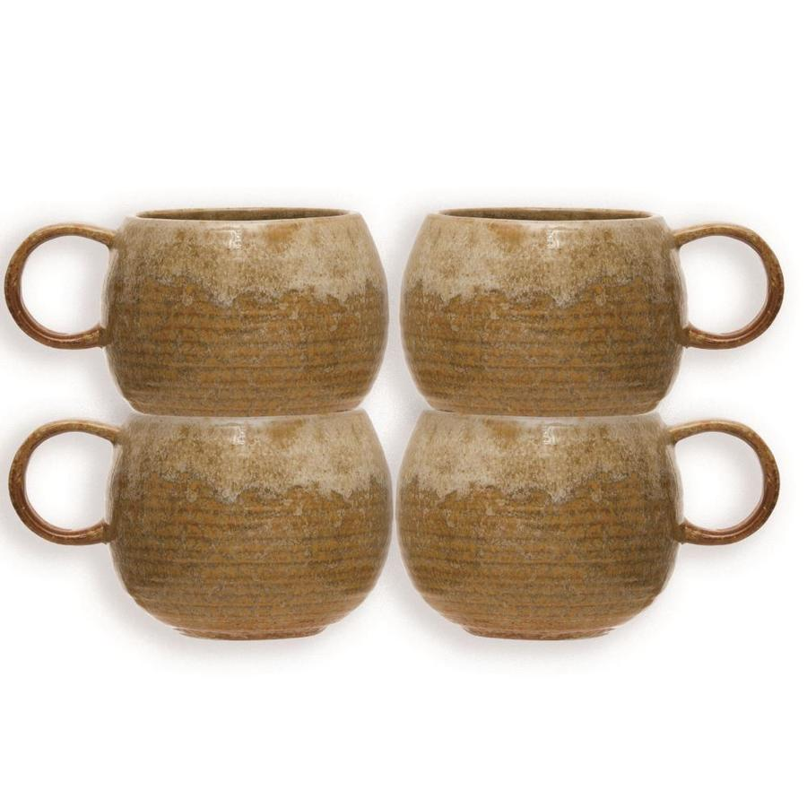 Creative Co Op Stoneware Mug Set Of 4 In The Drinkware Department At Lowes Com