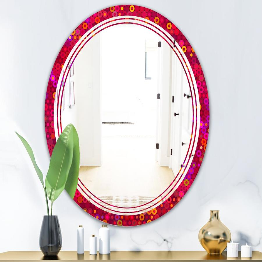 Designart Circular Retro Design Iii Modern Oval Wall Mirror Triple C In The Mirrors Department At Lowes Com