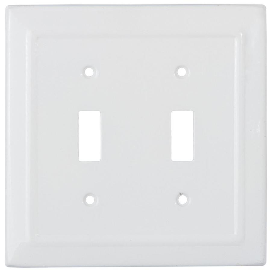 Monarch Abode Architectural 2 Gang Classic White Double Standard Wall Plate In The Wall Plates Department At Lowes Com
