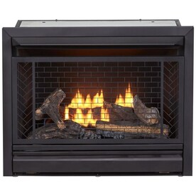 Duluth Forge Duluth Forge Dual Fuel Vent Less Gas Fireplace Insert 32 000 Btu Remote Control In The Gas Fireplace Inserts Department At Lowes Com
