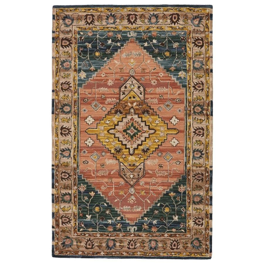 Jaipur Living Cardamom 8 X 10 Pink Yellow Indoor Medallion Global Handcrafted Area Rug In The Rugs Department At Lowes Com