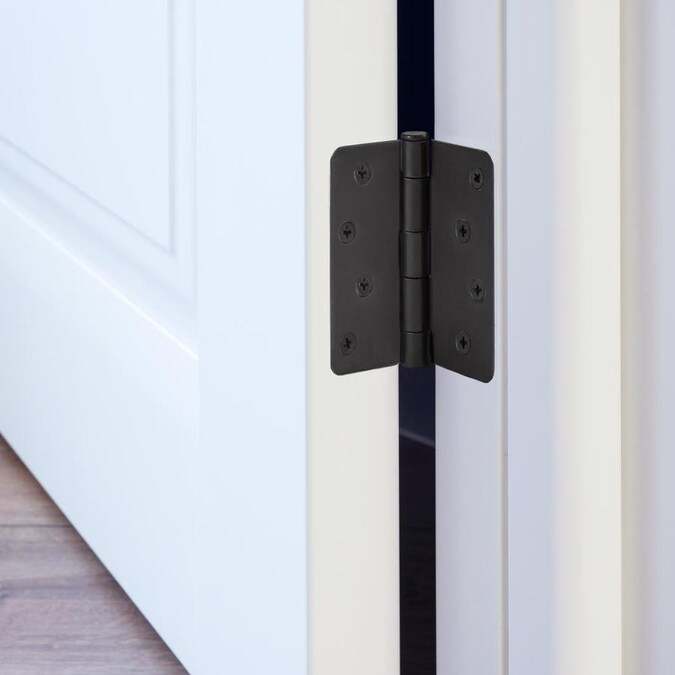 Design House 4 In Black 1 4 In Radius Butterfly Door Hinge 10 Pack In The Door Hinges Department At Lowes Com