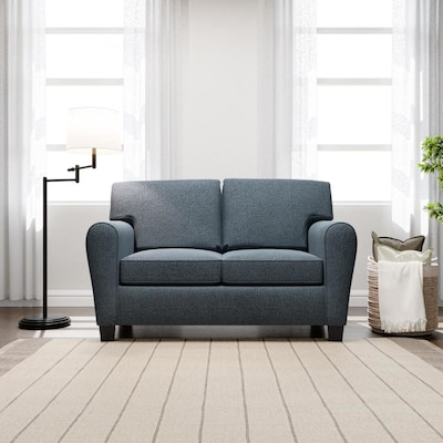 Brookside Brookside Abby Rolled Arm Loveseat Navy In The Couches Sofas Loveseats Department At Lowes Com