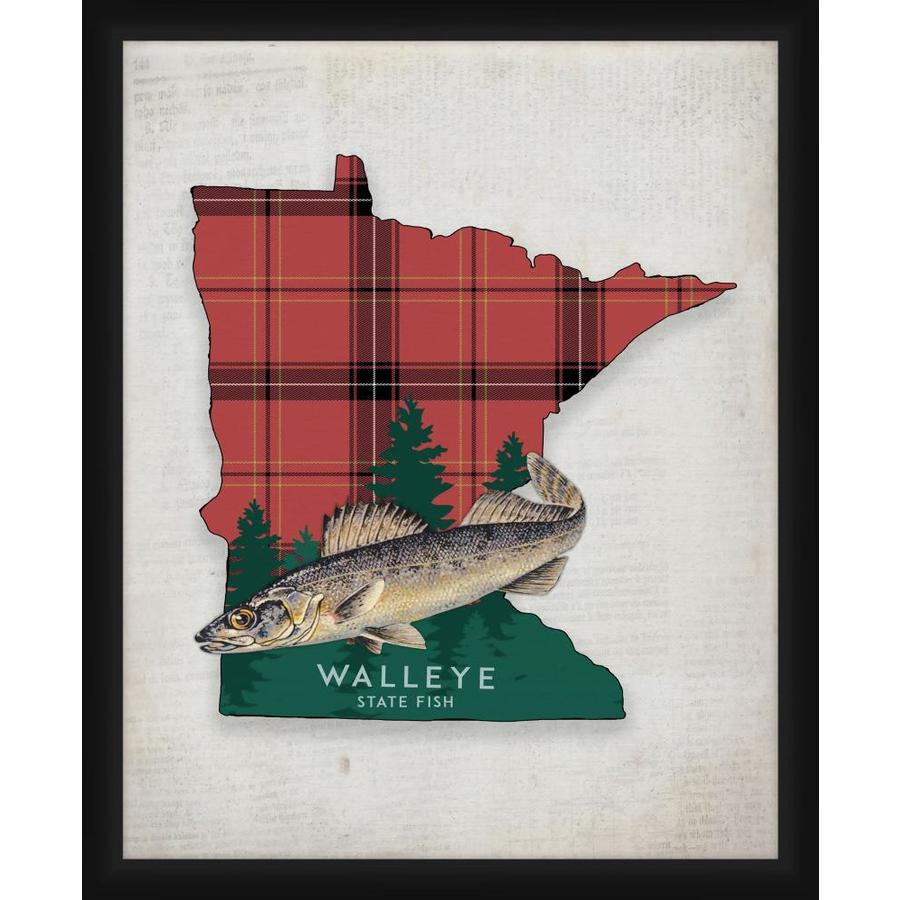 Ptm Images Walleye 14 In X 16 In Framed Art In The Wall Art Department At Lowes Com