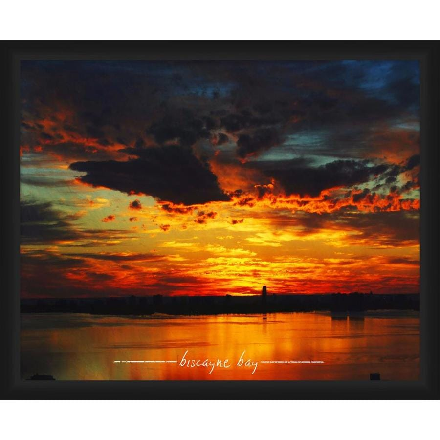 Ptm Images Biscayne Bay 16 In X 14 In Framed Art In The Wall Art Department At Lowes Com