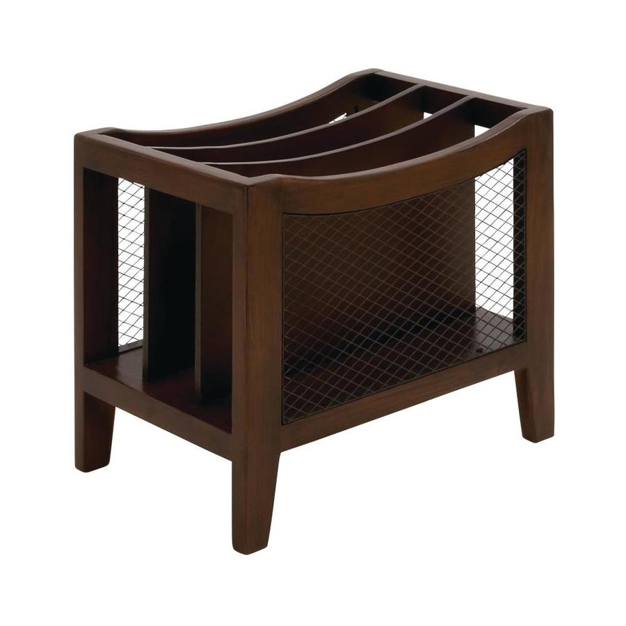 Grayson Lane Freestanding Magazine Rack Wooden Magazine And File Organizer 15 In X 11 In X 13 In Brown In The Decorative Accessories Department At Lowes Com