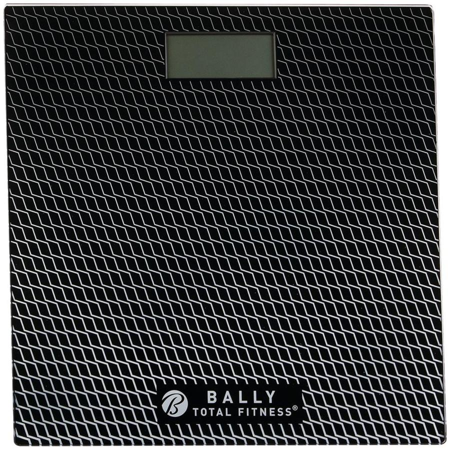 Bally Total Fitness Digital Bathroom Scale (Black) in the Bathroom Scales  department at Lowes.com