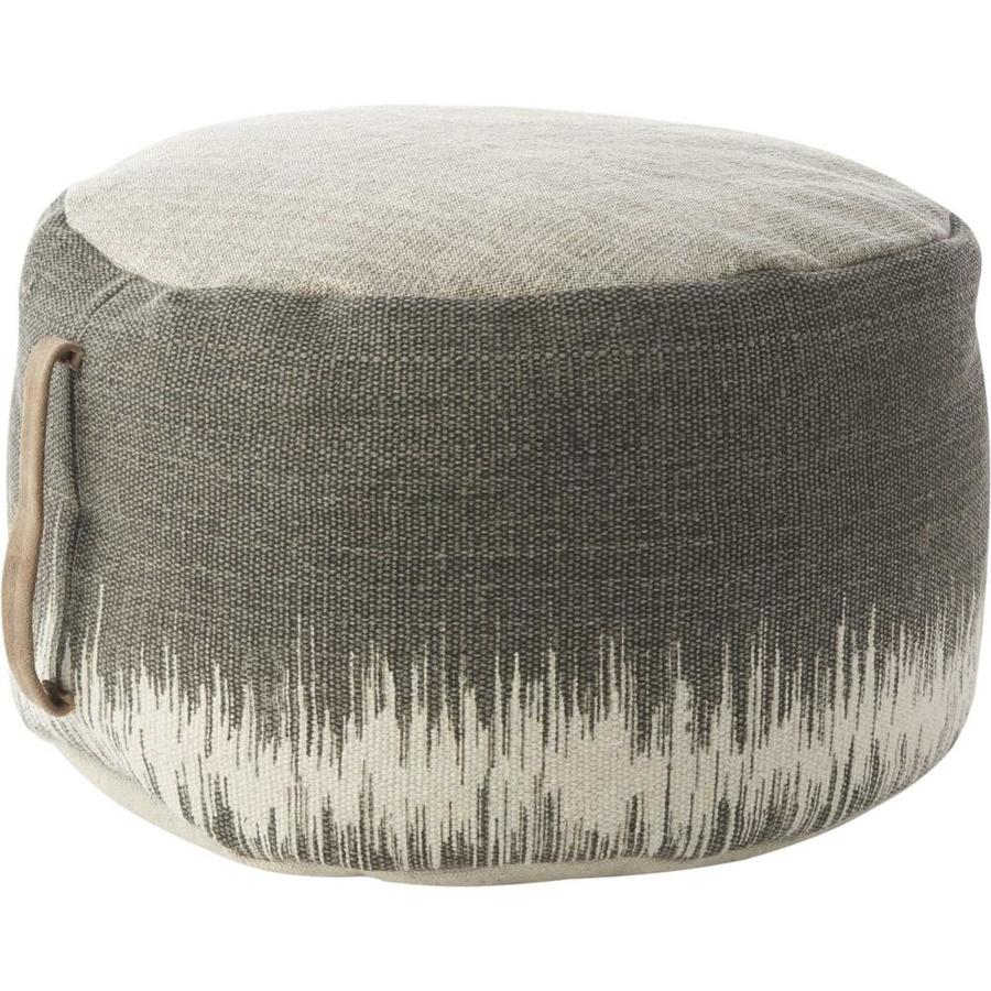 Mina Victory Life Styles Rustic Charcoal Pouf Ottoman In The Indoor Ottomans Department At Lowes Com