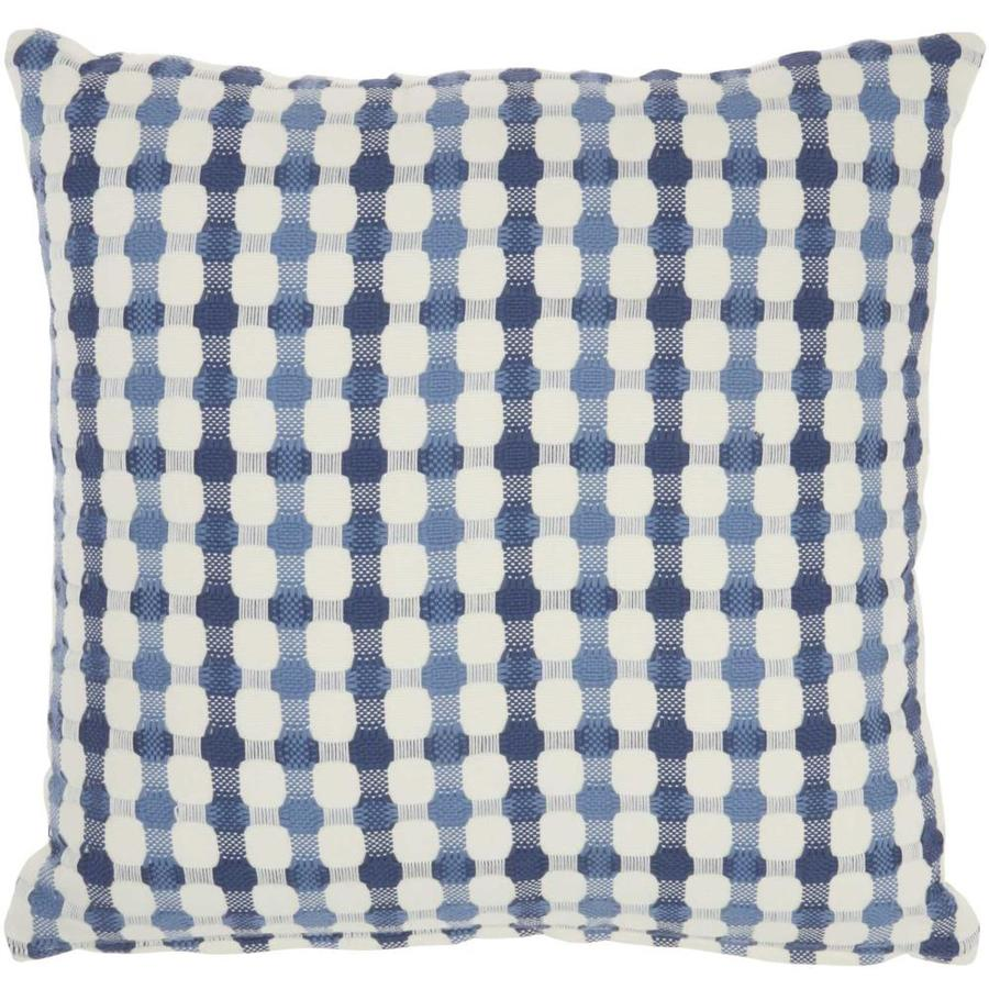 Mina Victory Lifestyles 18 In X 18 In Blue 100 Cotton Square Indoor Decorative Pillow In The Throw Pillows Department At Lowes Com