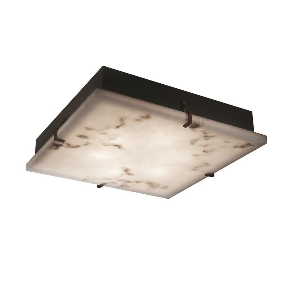 Justice Design Group Lumenaria Clips 4 Light 16 5 In Square Wall And Ceiling Mount Faux Alabaster Dark Bronze In The Flush Mount Lighting Department At Lowes Com