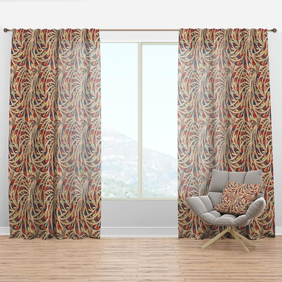 Designart 108 In Blue Faux Linen Room Darkening Thermal Lined Rod Pocket Single Curtain Panel In The Curtains Drapes Department At Lowes Com