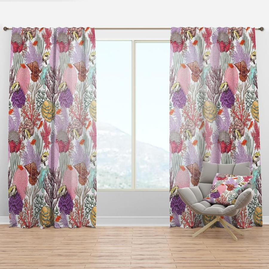 Designart 63 In Pink Faux Linen Room Darkening Thermal Lined Rod Pocket Single Curtain Panel In The Curtains Drapes Department At Lowes Com