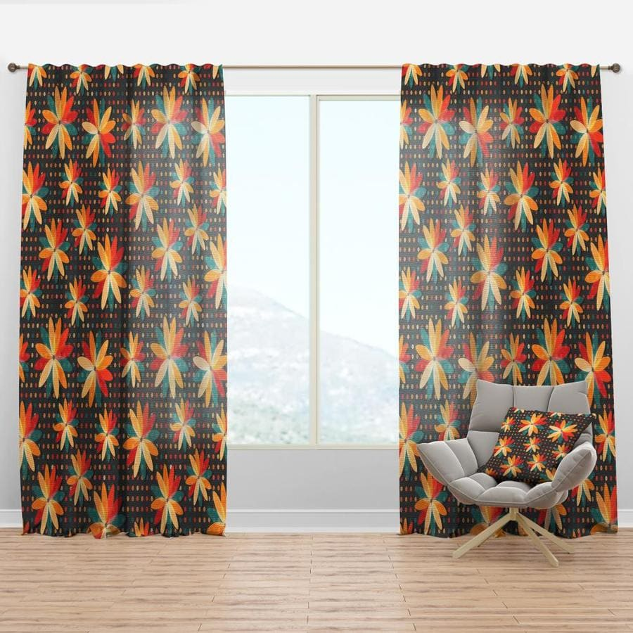 Designart 84 In Black Faux Linen Room Darkening Thermal Lined Rod Pocket Single Curtain Panel In The Curtains Drapes Department At Lowes Com