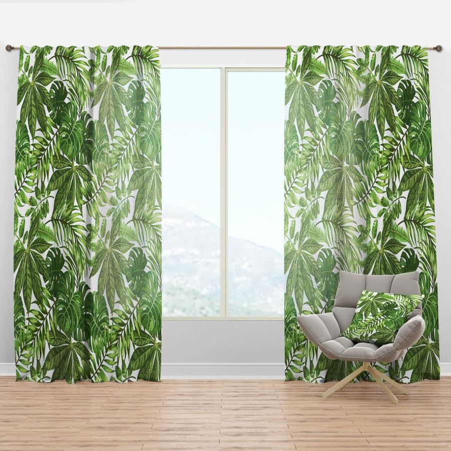 Designart 108 In Green Faux Linen Room Darkening Thermal Lined Rod Pocket Single Curtain Panel In The Curtains Drapes Department At Lowes Com