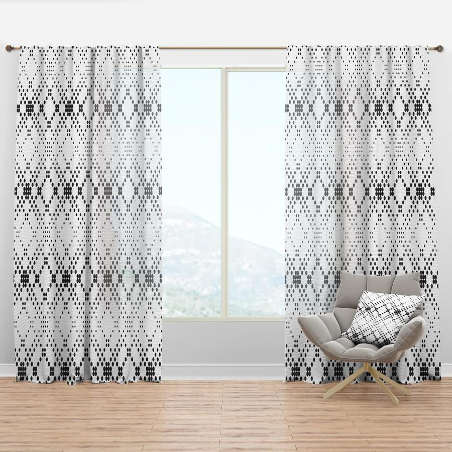 Designart 108 In Black Faux Linen Room Darkening Thermal Lined Rod Pocket Single Curtain Panel In The Curtains Drapes Department At Lowes Com