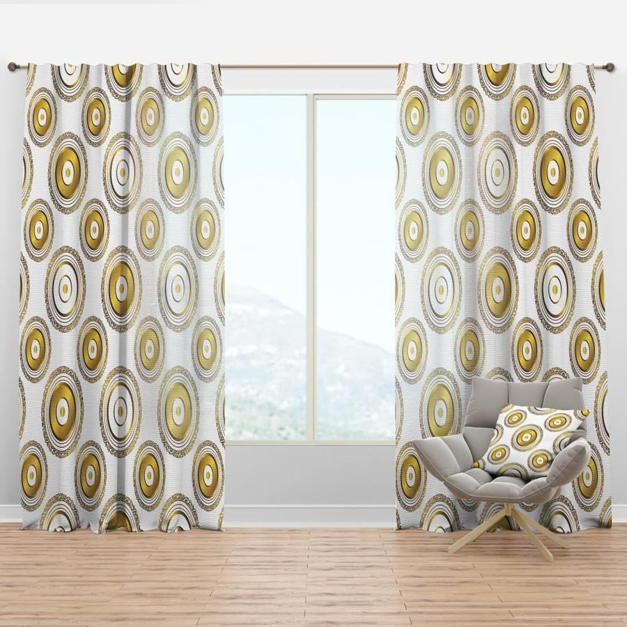 Designart 84 In Gold Faux Linen Room Darkening Thermal Lined Rod Pocket Single Curtain Panel In The Curtains Drapes Department At Lowes Com
