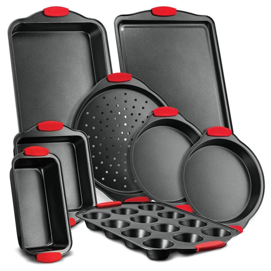 Nutrichef 8 Piece Steel Non Stick Bakeware Set In The Bakeware Department At Lowes Com