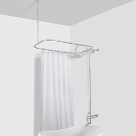 American Bath Factory 4300 Shower Ring 58 75 In To 58 75 In Satin Nickel Fixed Enclosure Shower Rod In The Shower Rods Department At Lowes Com