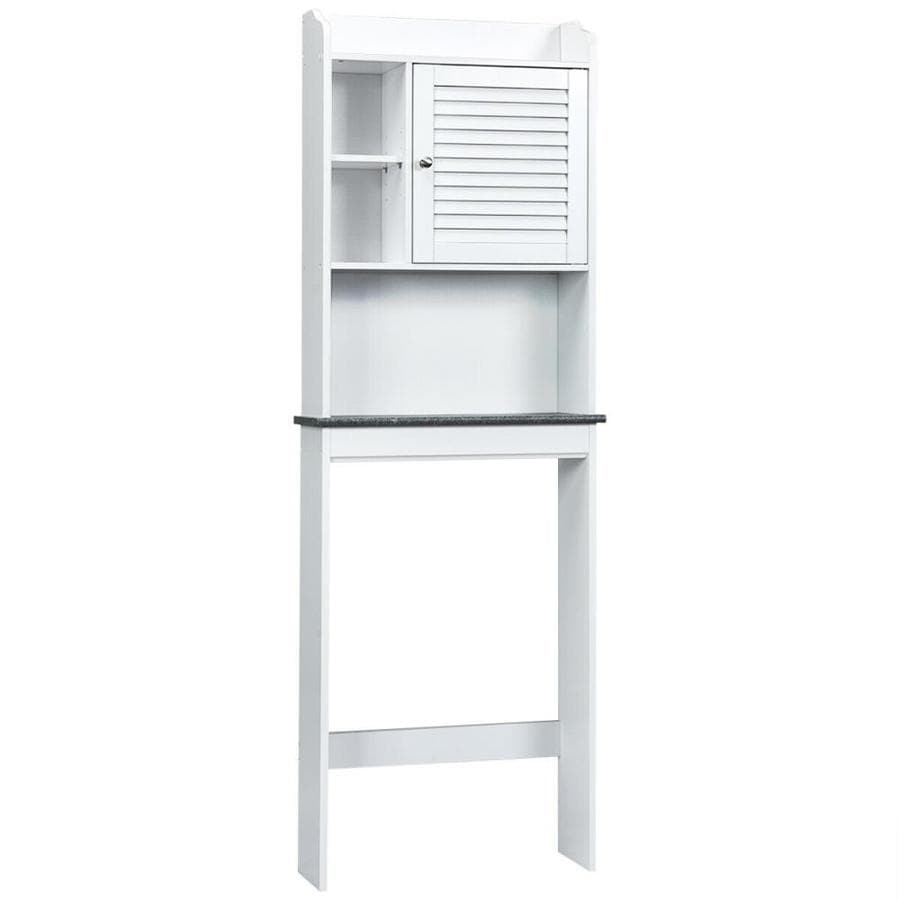Wellfor 68 5 In Height White Over The Toilet Etageres Bathroom Space Saver Storage Cabinet With Single Door And Adjustable Shelf In The Etageres Department At Lowes Com