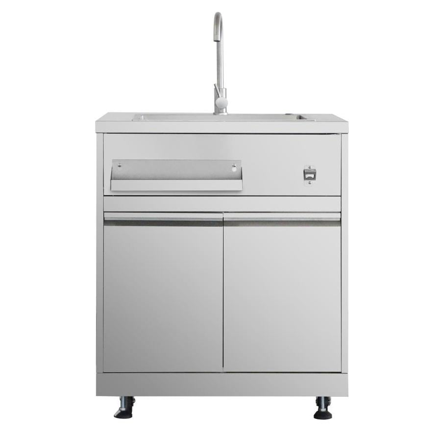 Thor Kitchen Outdoor Kitchen Sink Cabinet In Stainless Steel In The Modular Outdoor Kitchens Department At Lowes Com