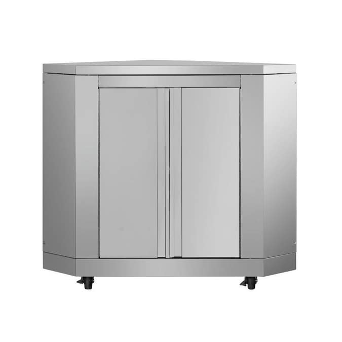 Thor Kitchen Outdoor Kitchen Corner Cabinet In Stainless Steel In The Modular Outdoor Kitchens Department At Lowes Com