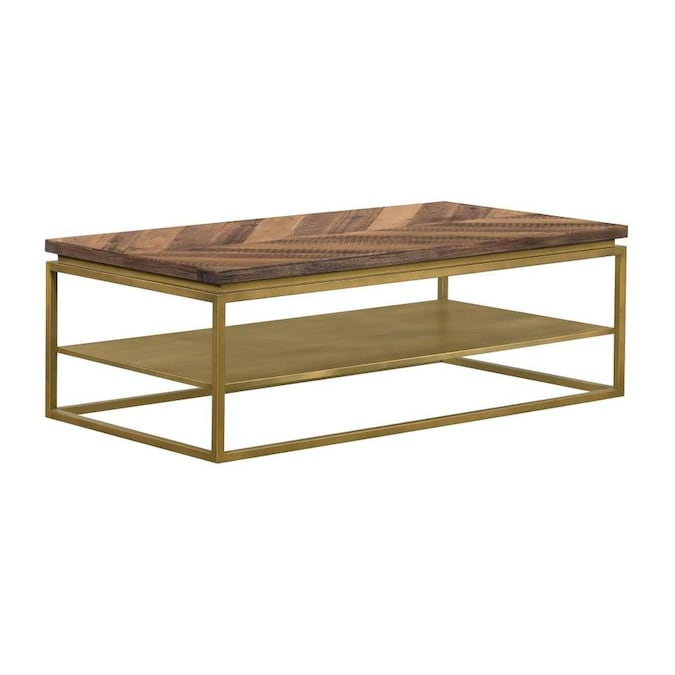 Armen Living Faye Mixed Acacia Pine Oak Wood Coffee Table In The Coffee Tables Department At Lowes Com
