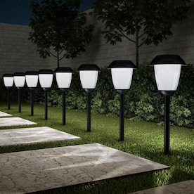 Nature Spring Solar Powered Lights Set Of 2 32 In Hanging Coach Lanterns With 2 Shepherd Hooks Led Outdoor Lighting By Nature Spring In The Spot Flood Lights Department At Lowes Com