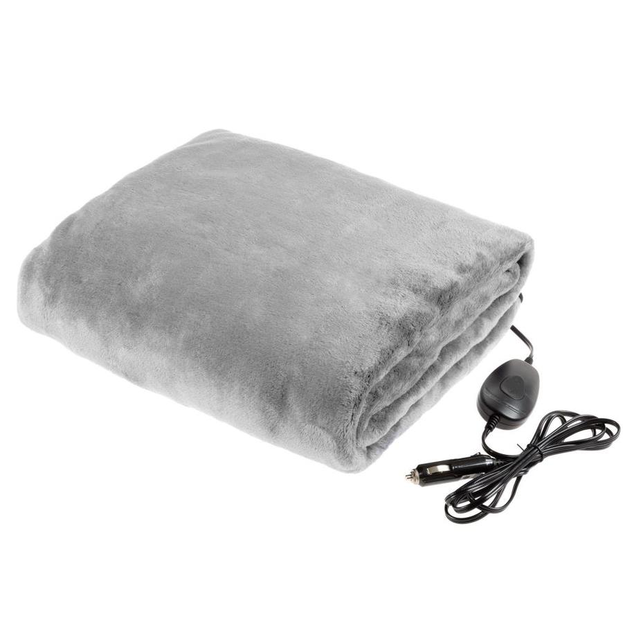 Fleming Supply Electric Car Blanket Outdoor Heated 12v Travel Throw Fleece 3 Settings Auto Shutoff For Road Trips Camping And More By Fleming Supply Gray In The Blankets Throws Department At Lowes Com