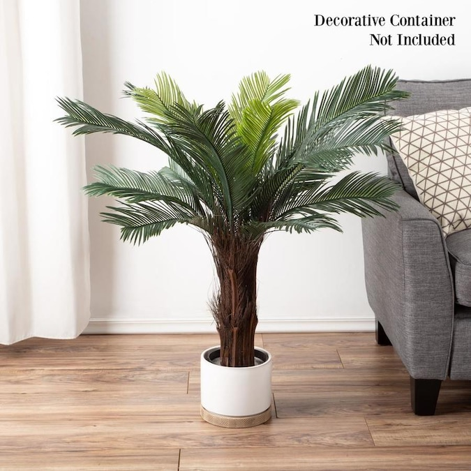 Nature Spring Artificial Cycas Palm Tree 3 Foot Potted Faux Plant For Home Or Office Decoration Ornamental Greenery For Indoor Or Outdoor Use By Nature Spring In The Artificial Plants Flowers Department