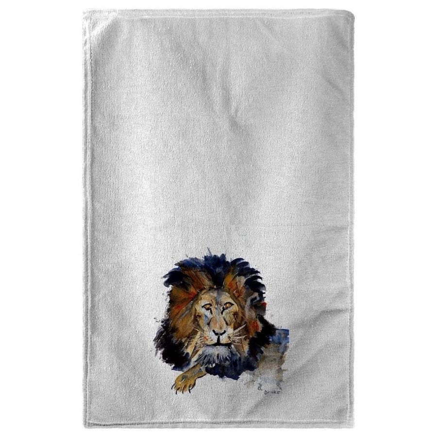 Betsy Drake Interiors 30 X 50 In Lion Beach Towel In The Endless Aisle Department At Lowes Com